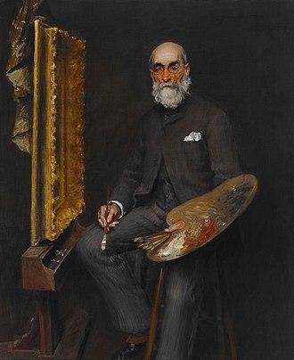 Worthington Whittredge - Portrait by William Merritt Chase, circa 1890