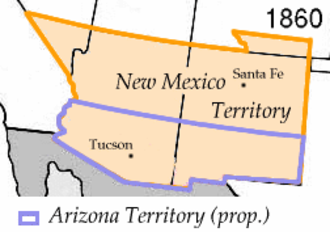 Arizona Territory - Image: Wpdms arizona territory 1860 idx