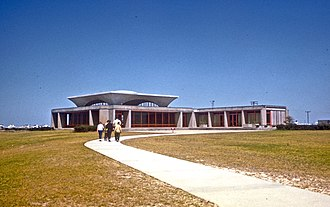 Mission 66 - Wright Brothers National Memorial visitor center, shortly after completion