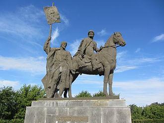 Ulyanovsk - The Bogdan Khitrovo Monument in downtown Ulyanovsk