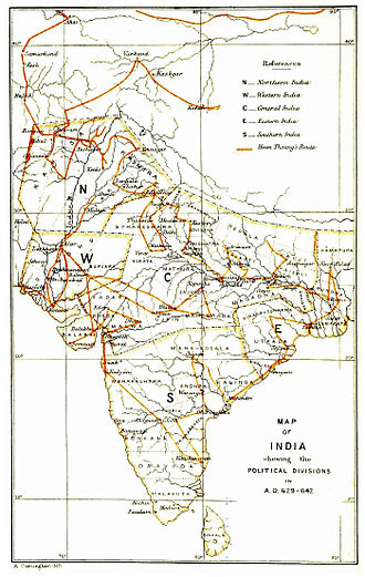 Xuanzang - Travel route of Xuanzang in India