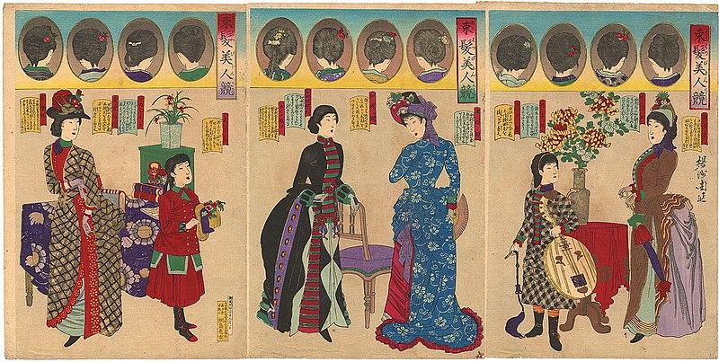 File:Yōshū Chikanobu various hairstyles.jpg - Wikimedia ...