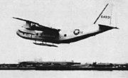 YC-123E with pantobase landing gear 1955