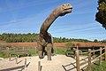 Yacimiento de La Pedraja en Mambrillas de Lara, maqueta de dinosaurio.jpg
