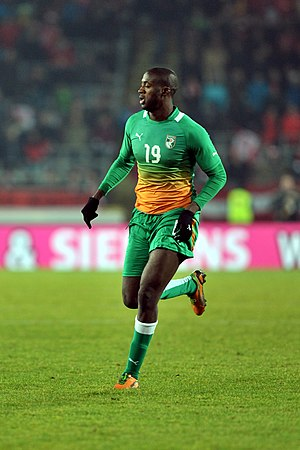 Yaya Touré - Touré playing for the Ivory Coast in 2012.