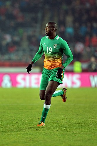 Yaya Touré - Touré playing for the Ivory Coast in 2012