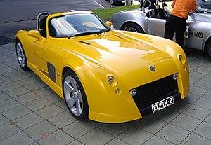 Elfin Sports Cars - Image: Yellow elfin ms 8 streamliner