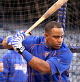 Yoenis Cespedes takes BP on -WSMediaDay (22886711326).jpg