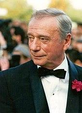 Yves Montand au festival de Cannes 1987.
