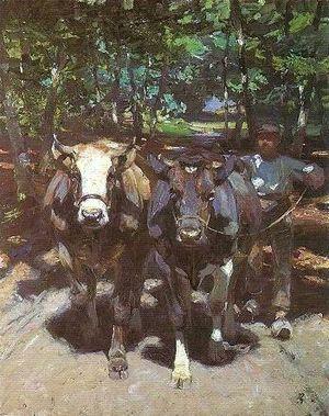 Heinrich von Zügel - Through the Forest, c.1911