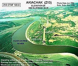 Aerial photograph of Akiachak