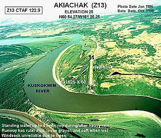 Akiachak, Alaska - Aerial photograph of Akiachak