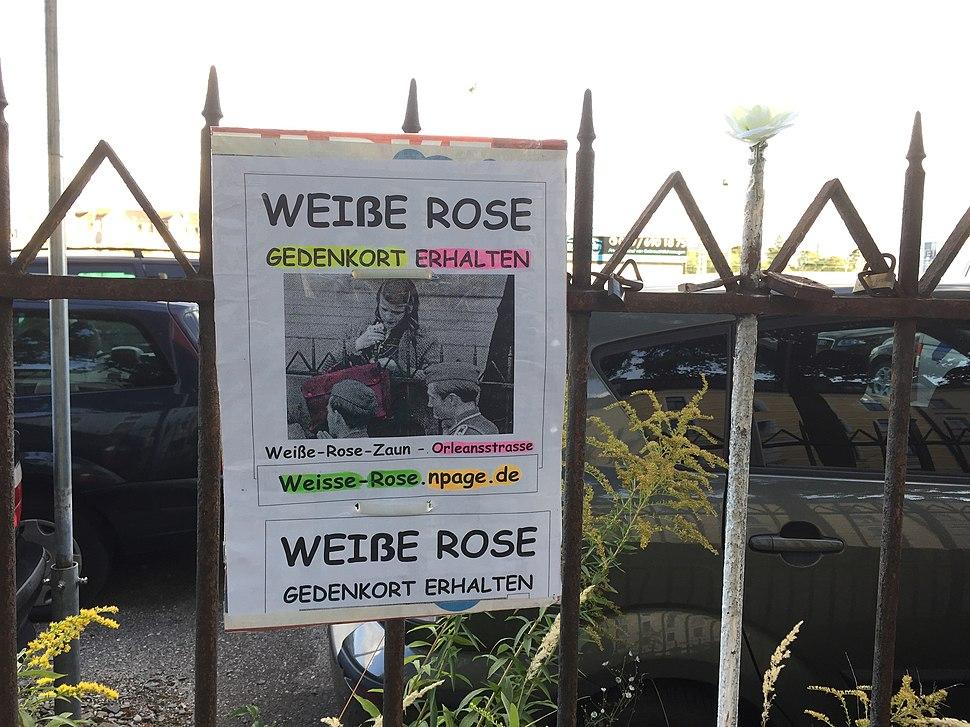 Zaun vom berühmten Sophie-Scholl-Foto