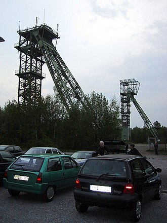 Gladbeck - The two remaining shaft towers
