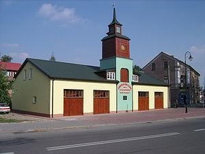 Żelechów - Old fire station in Żelechów.