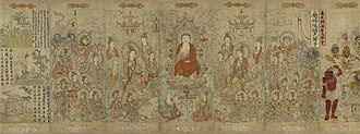Chinese philosophy - The Sakyamuni Buddha, by artist Zhang Shengwen, 1173-1176 CE, Song dynasty.
