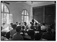 Zionist activities in Palestine. The Hebrew University. Class in mathematics. Einstein Institute. LOC matpc.02660.jpg