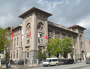First national architectural movement - The Ziraat Bankası General Headquarters Building in Ankara is a prominent example of the movement.