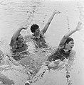 Zweminterland Nederland tegen Engeland te Groningen, Nederlandse dames 4x 100 me, Bestanddeelnr 916-5944.jpg