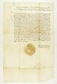 Zygmunt II August król polski wzywa władze miejskie poznańskie do zapłacenia zaległego za ostatnie trzy lata podatku od podwód i szosu, pod karą 5 000 florenów węgierskich..png