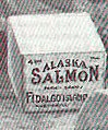 """Alaska Salmon"" box of canned salmon in 1914 Mexico, from- FMIB 47620 Gen Villa, the Mexican Revolutionary Leader (in white hat), on Board a Troop Train, ordering all ablebodies men to the front and (cropped).jpeg"