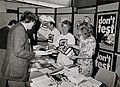 """Don't test"" stall at Fifth IPPNW European Congress, Coventry Wellcome L0075313.jpg"