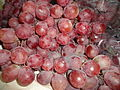 (Red Grapes) A grape is a fruiting berry of the deciduous woody vines of the botanical genus Vitis.JPG