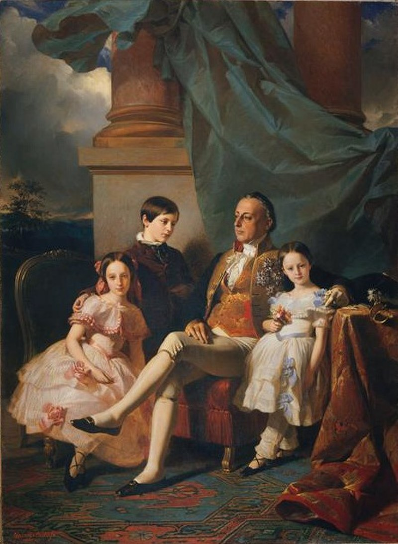 Édouard-Louis Dubufe - Prince Vincenzo Ruffo of Sant'Antimo and his children.jpg