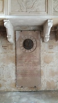 Église Saint-Paul de Lyon - Plaque du tombeau de Jean Gerson.jpg