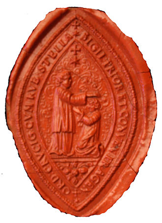 Knights of the Cross with the Red Star - Seal Prior Order in Prague ≈ y.1700