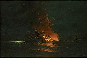 Κωνσταντίνος Βολανάκης - Το κάψιμο της τουρκικής φρεγάτας 02.jpg