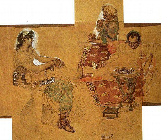 Пирующие римляне. 1883