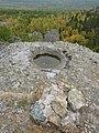 Лунка в скале и остатки геодезической тумбы - panoramio.jpg