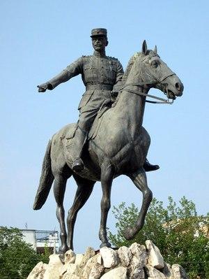 Nikolaos Plastiras - A statue in Karditsa