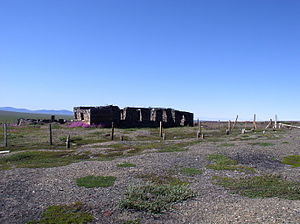 Pevek - Remains of Chaunlag buildings near Pevek
