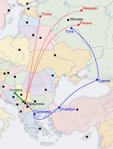 Картинки по запросу Марш на Приштину карта