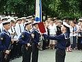 Принятие присяги в Сквере Славы Русского Флота на День ВМФ 2009.JPG