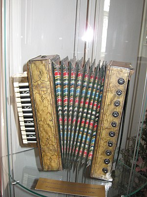 Garmon - Nikolay Beloborodov's chromatic piano accordion, 1878.