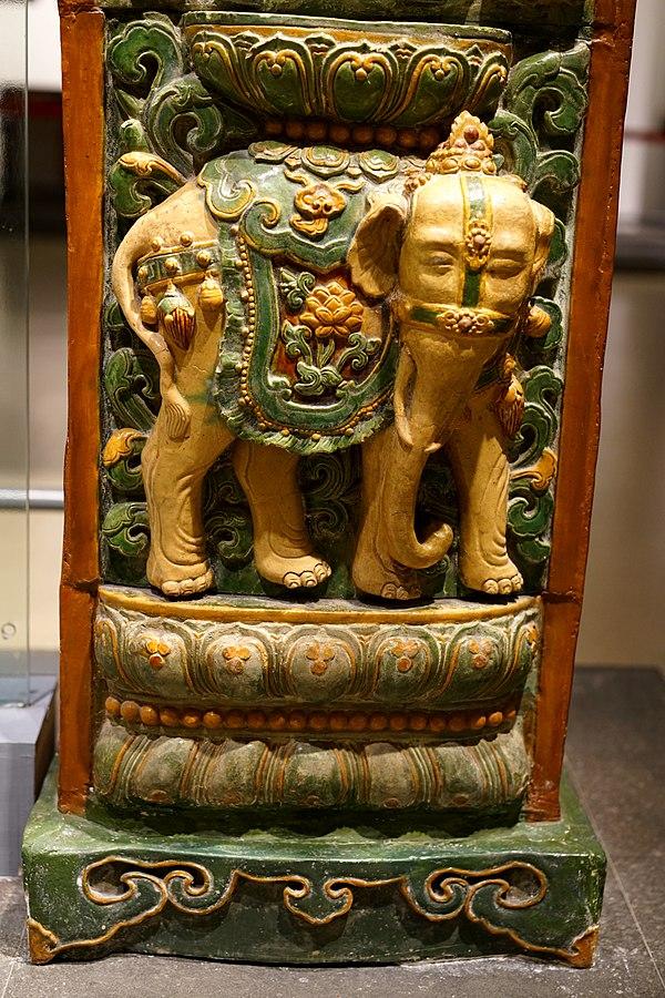 Restos de la torre de porcelana de Nankín.