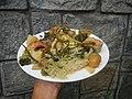 0099Nilagang repolyo, petsay Tagalog, kamote, patatas, kamatis at Pritong Dalag (Bulig) sa tanglad 44.jpg