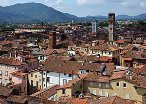 Lucca - View of Lucca from the Torre Guinigi