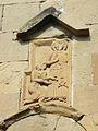 096 Monastère de Djvari Sculpture au-dessus d'une vitre dominant le portail d'entrée.JPG