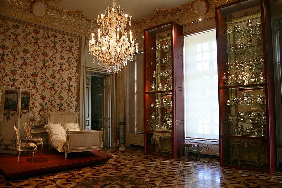 """Seneffe (Belgium), the chocolate room of the """"Musée de l'Orfèvrerie de la Communauté française""""."""