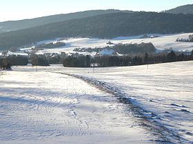 Lignières, eine Sicht von Nordosten
