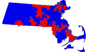 Massachusetts House Of Representatives Wikipedia - Massachusetts political map
