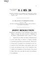 116th United States Congress H.J.Res. 026 (1st session) - Proposing an amendment to the Constitution of the United States to increase the term of service of Members of the House of Representatives from 2 years to 4 years.pdf