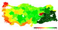 12.09.2010 referandum Turkey, 'Yes' votes by province.png