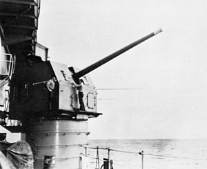 127mm L54 gun on USS Midway (CVA-41) c1964.jpg
