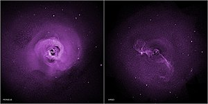 Virgo Cluster - Turbulence may prevent galaxy clusters from cooling (Chandra X-ray).