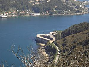 Ferrol Expedition (1800) -  The Fort of La Palma. The two forts were key to the defense of Ferrol